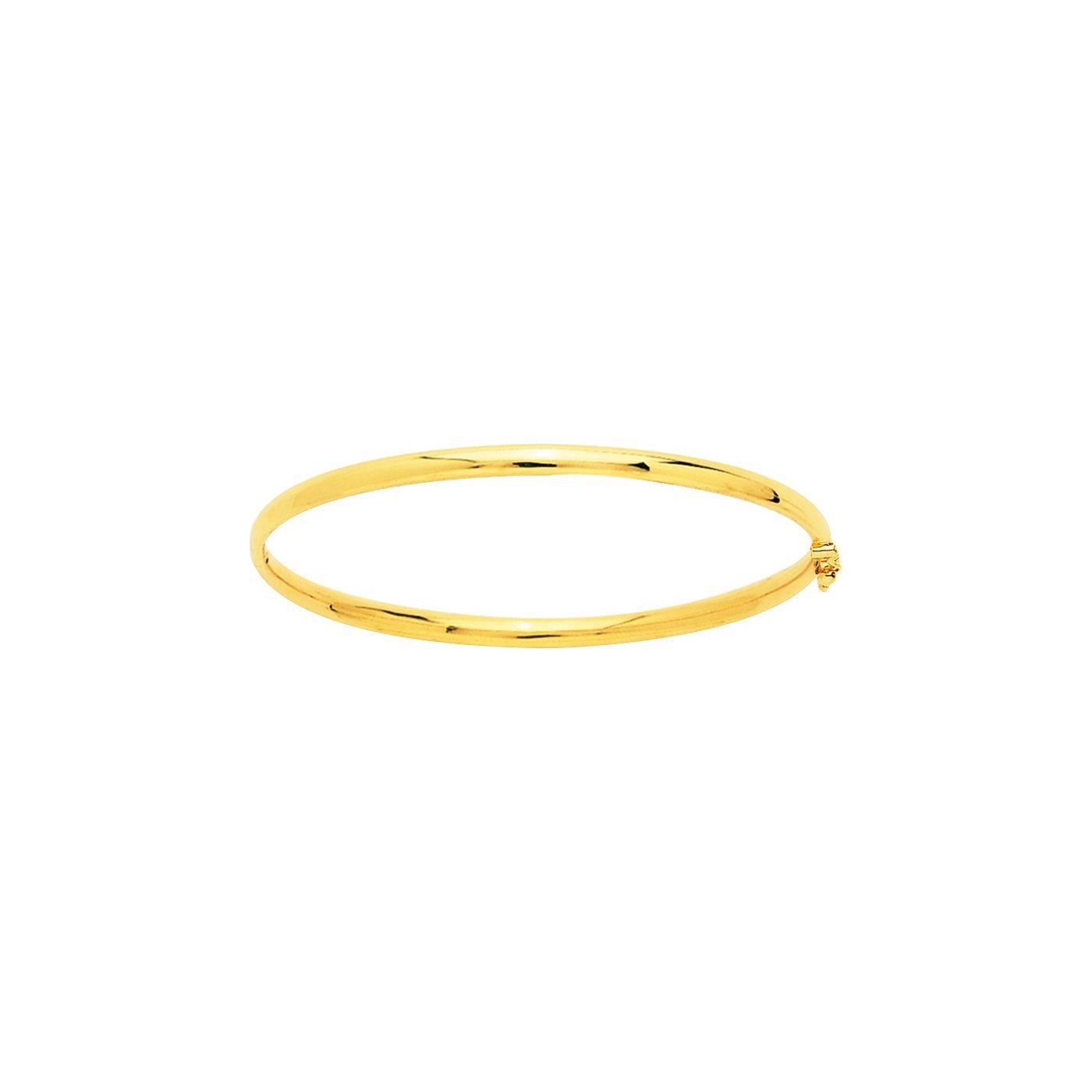 Bracelet jonc ouvrant en or blanc