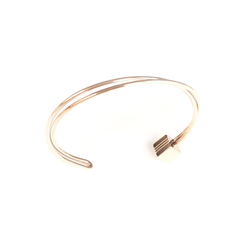 Bracelet jonc SILA en plaqué or rose vue 2