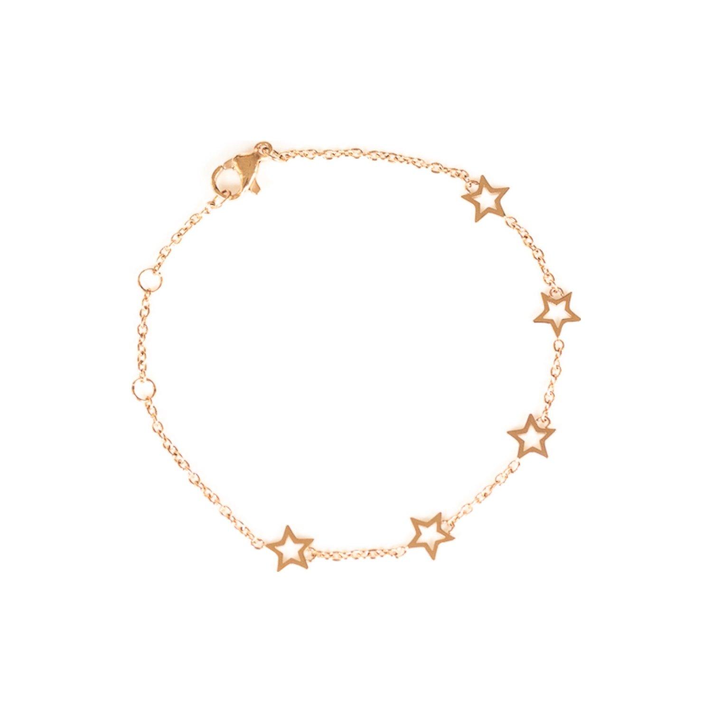 Bracelet étoiles SILA en plaqué or rose vue 1