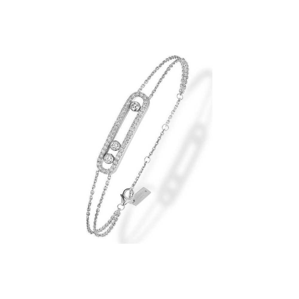 Bracelet Messika Move Classique Pavé en Or blanc et Diamant
