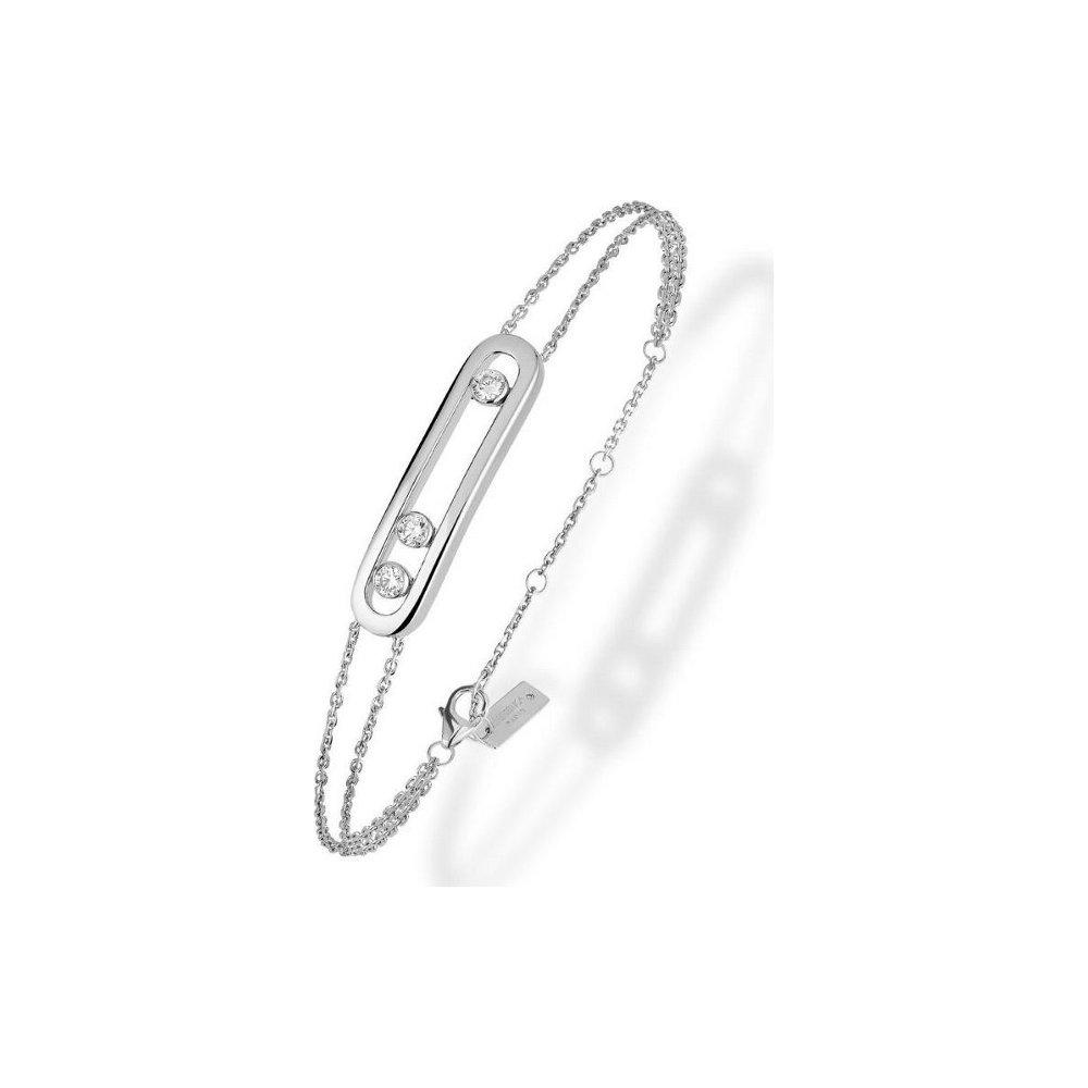 Bracelet Messika Move Classique en or blanc et diamants