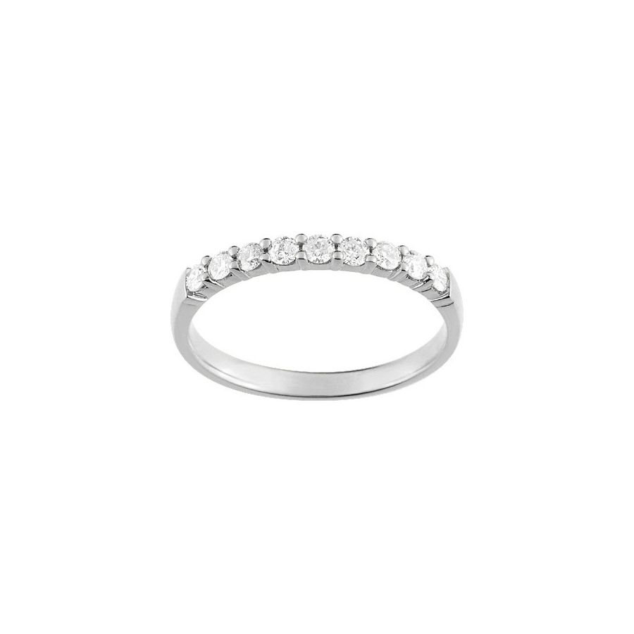 Alliance en or blanc et diamants de 0.30ct vue 1
