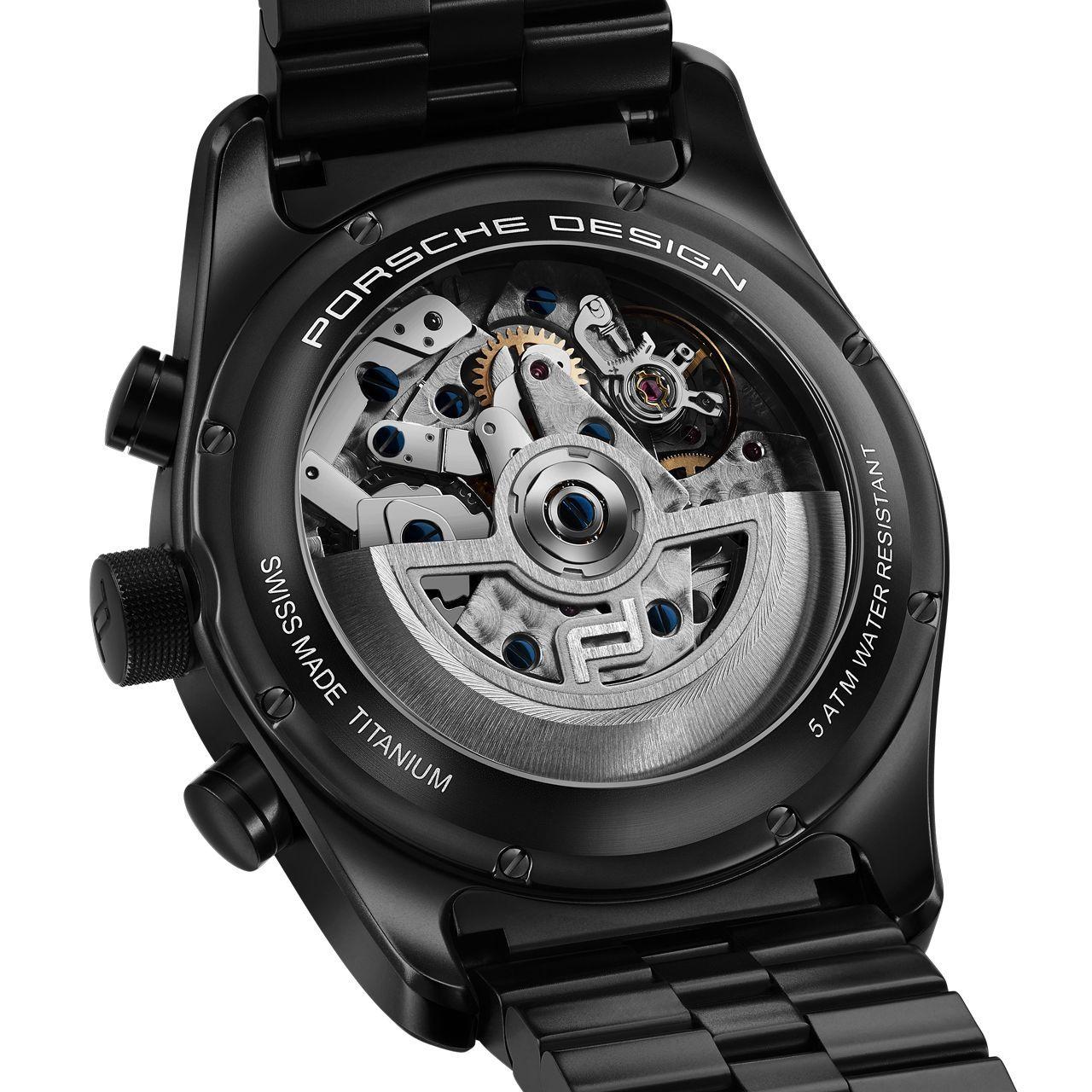 Montre Porsche Design Chronotimer Series 1 Matte Black vue 2