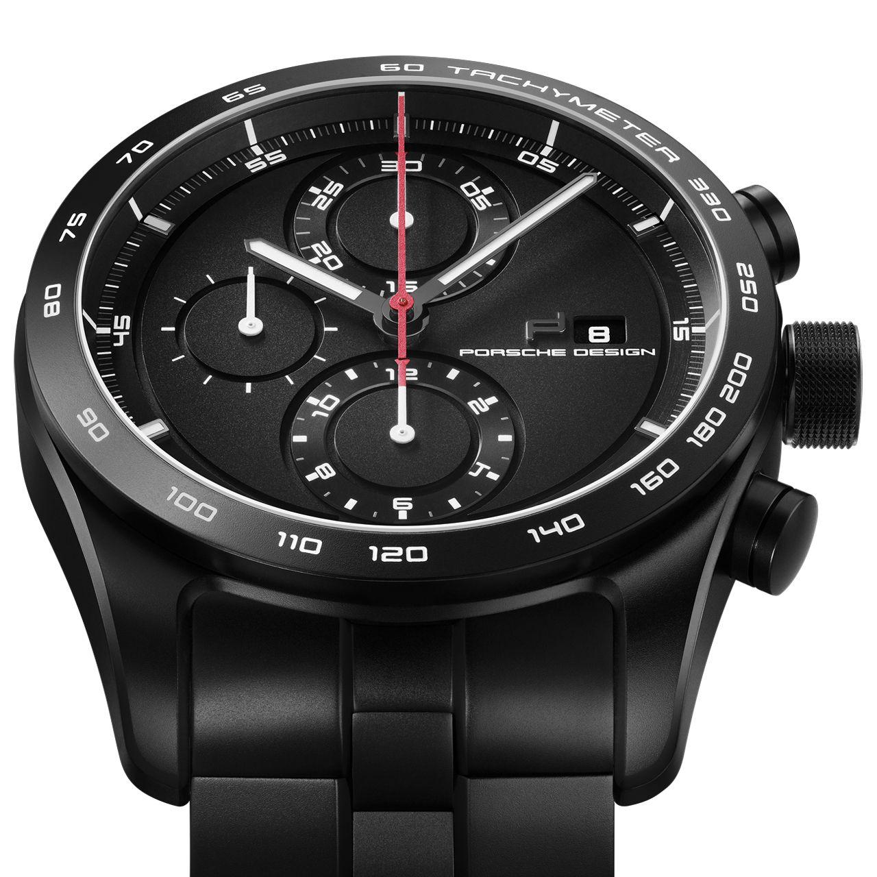 Montre Porsche Design Chronotimer Series 1 Matte Black vue 3