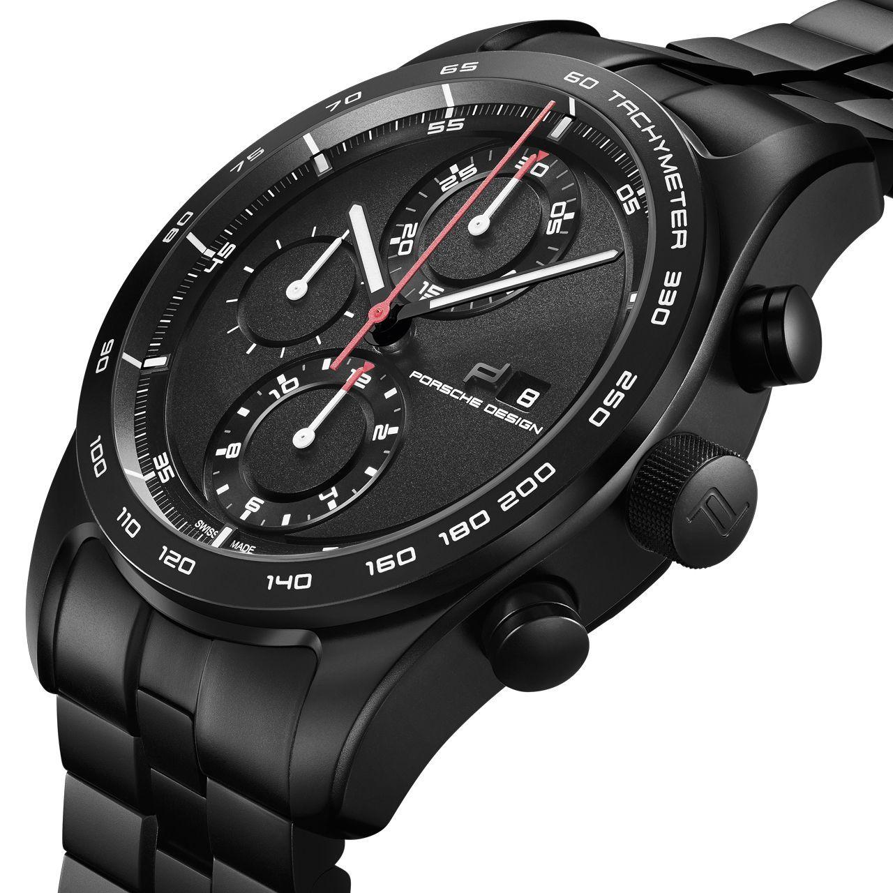 Montre Porsche Design Chronotimer Series 1 Matte Black vue 5