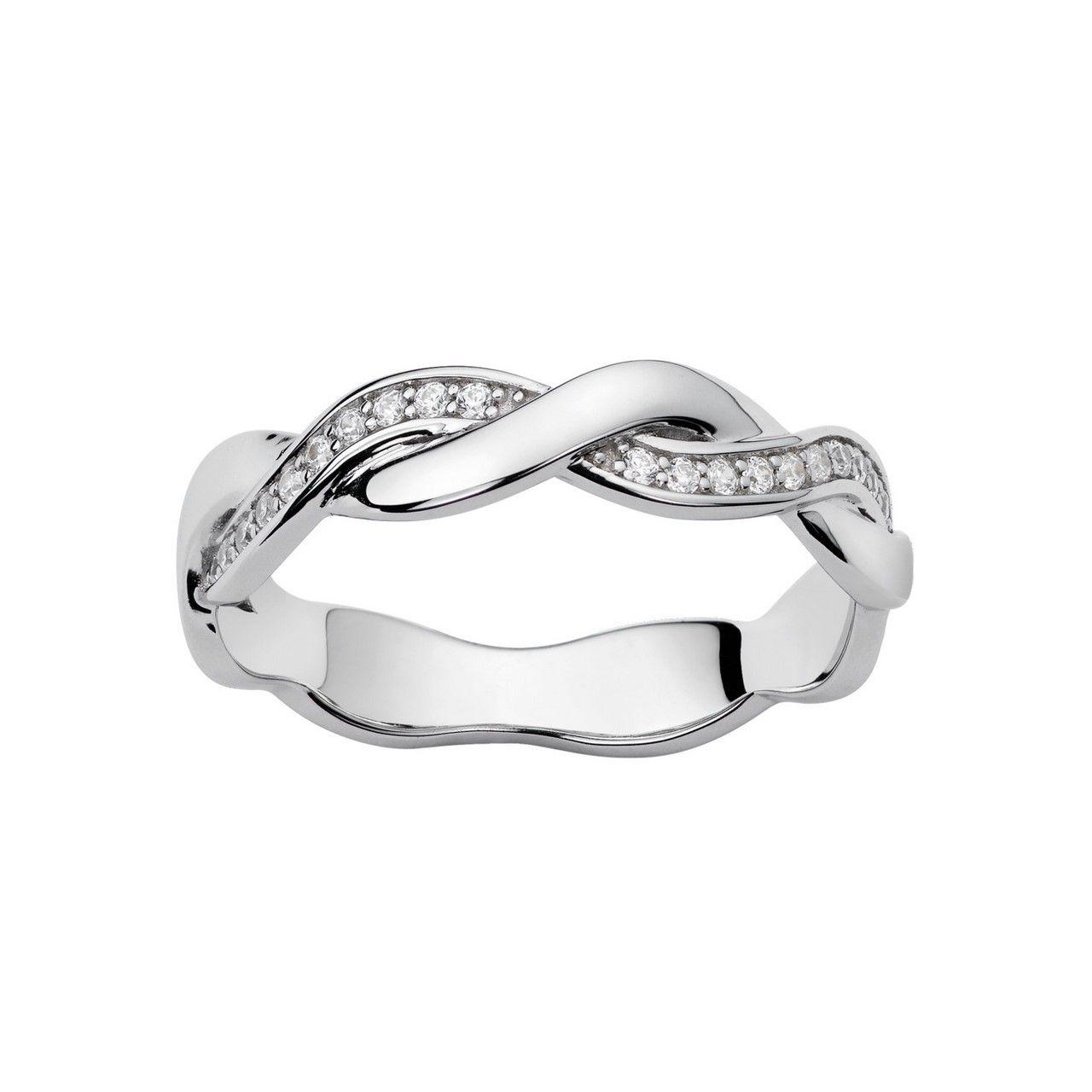 Alliance en or blanc et diamants de 0.10ct vue 1