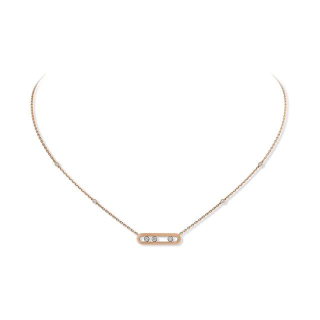 Collier Messika Baby Move en Or rose et Diamant