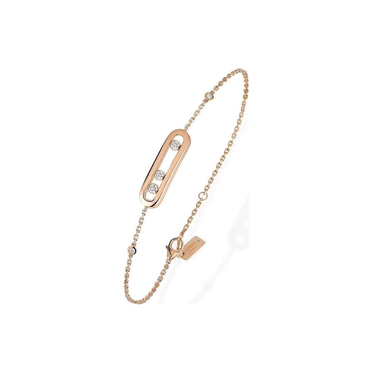 Bracelet Messika Baby Move en or rose et diamants