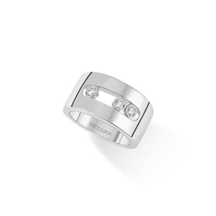 Bague Messika Move Joaillerie M en or blanc et diamants