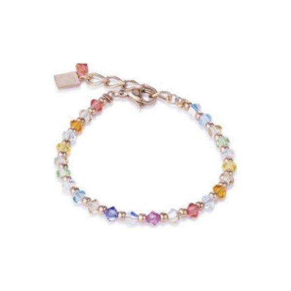 Bracelet Coeur de Lion en cristaux Swarovski et métal doré rose