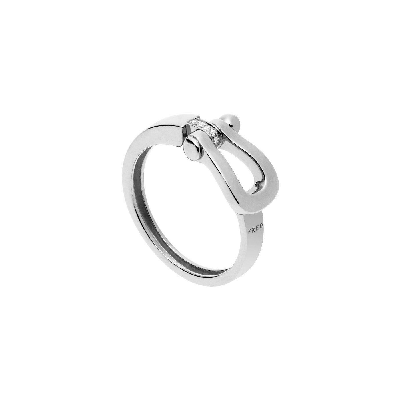 Bague FRED Force 10 moyen modèle en Or blanc et Diamant vue 1