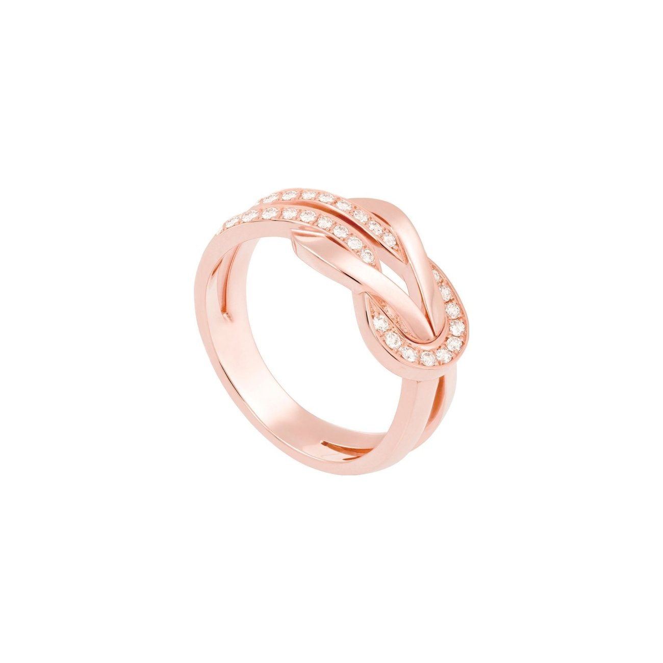 Bague FRED 8°0 en or rose et diamants vue 1