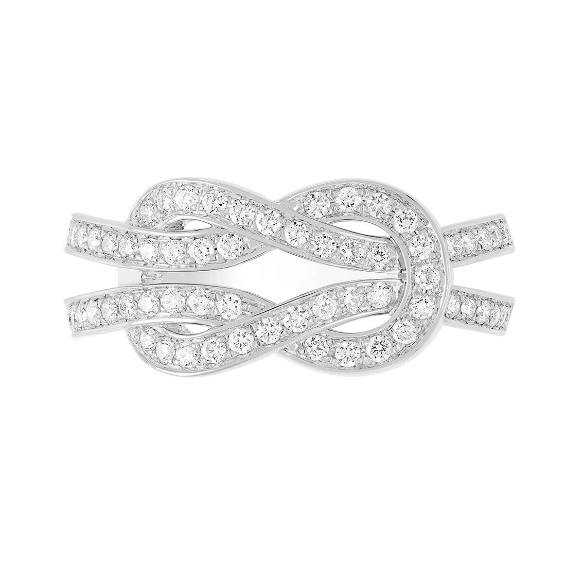 Bague FRED 8°0 en or blanc et diamants vue 2