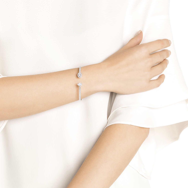 Bracelet jonc Swarovski Attract Square en cristaux Swarovski et acier, taille S vue 2