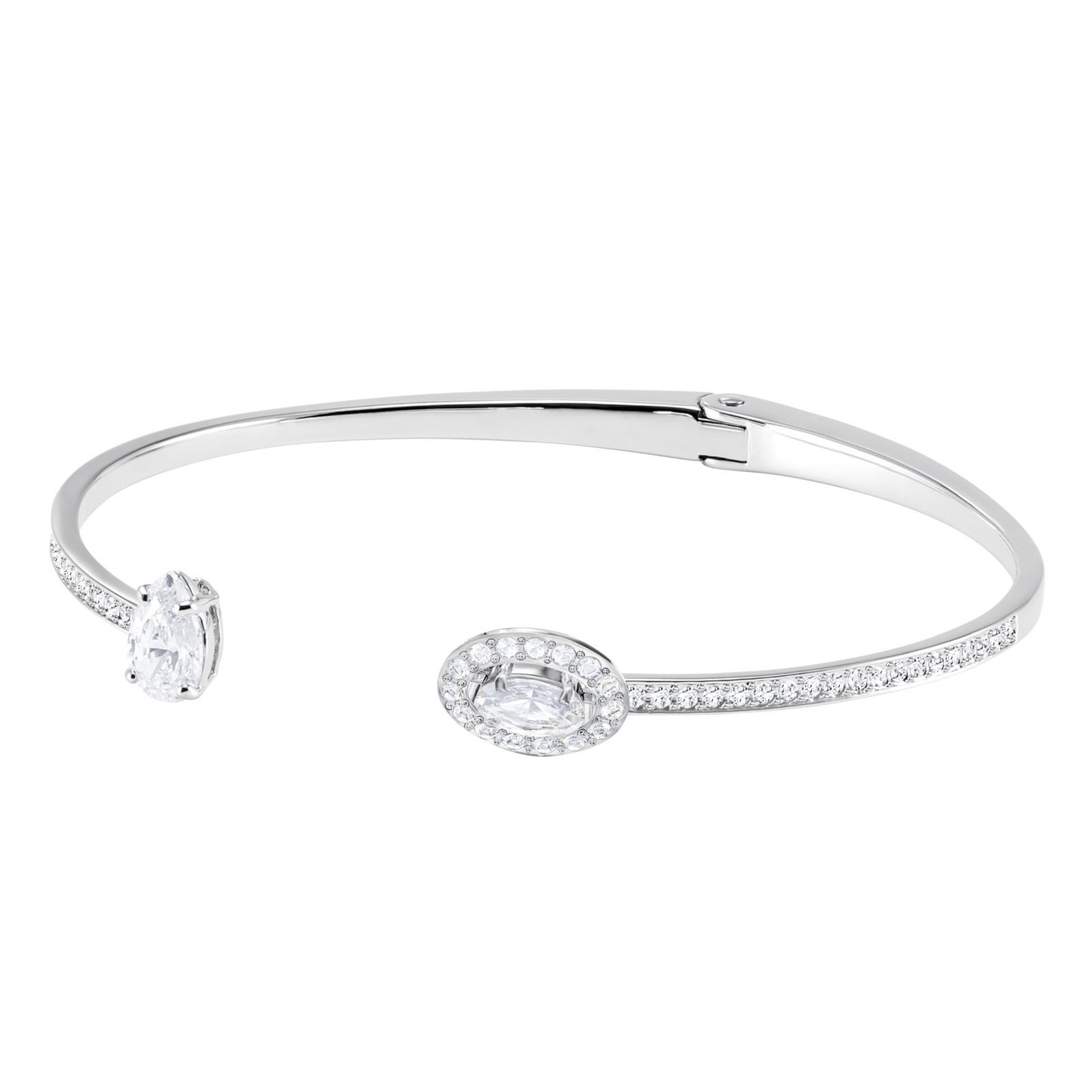 Bracelet jonc Swarovski Attract Square en cristaux Swarovski et acier, taille S vue 1