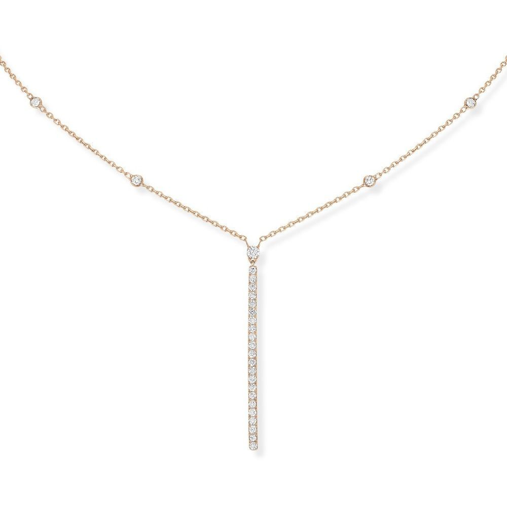 Collier Messika Gatsby en or rose et diamants