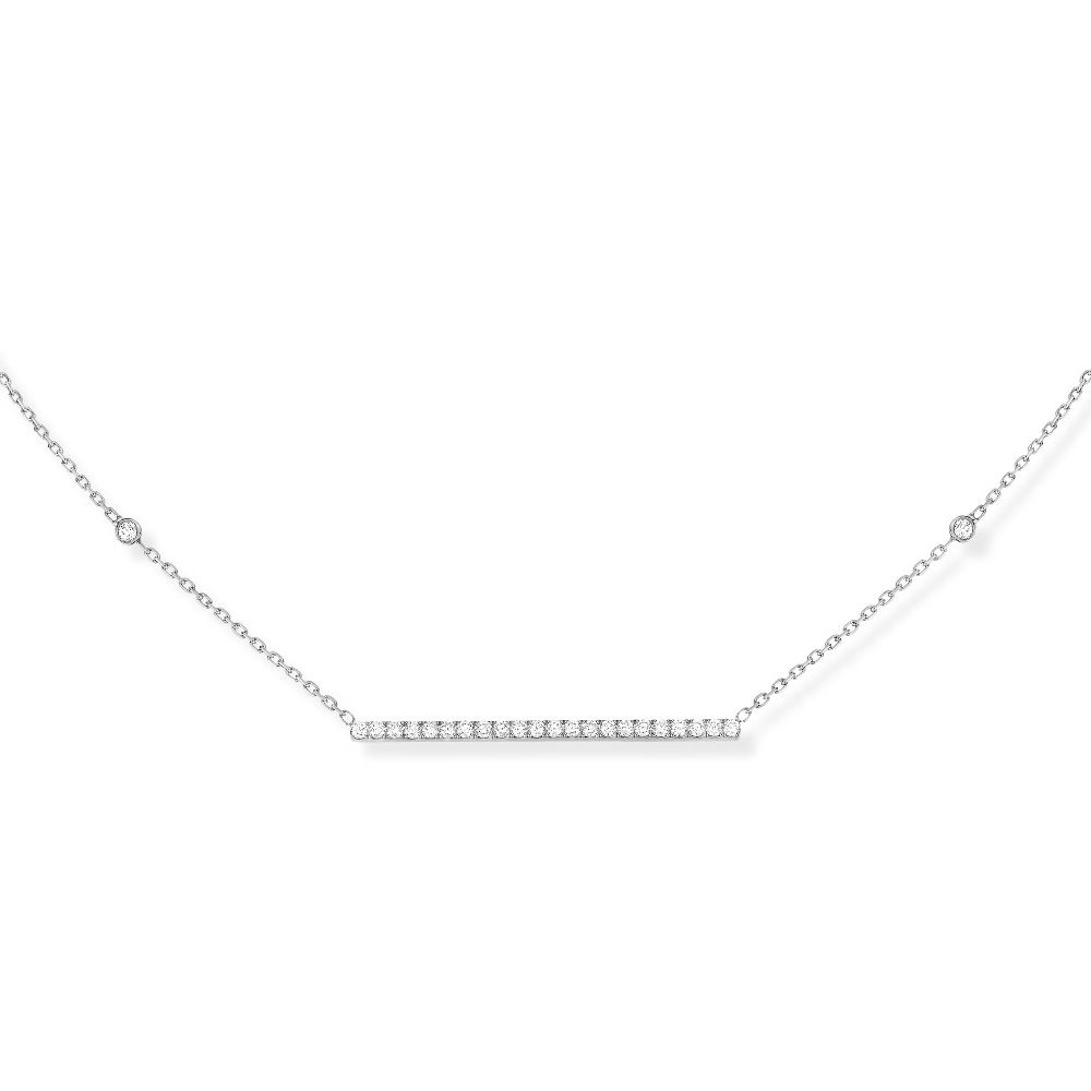 Collier Messika Gatsby en or blanc et diamants