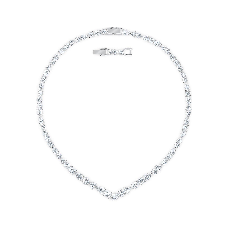 Achat Collier en v Swarovski Tennis Deluxed Mixed, blanc, métal rhodié