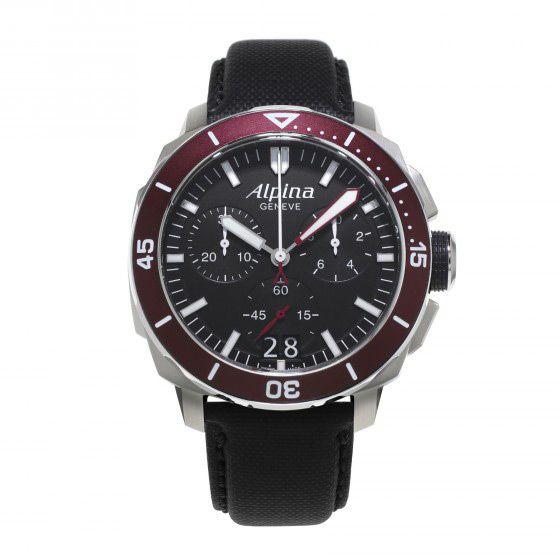 Montre Alpina Seastrong Diver 300 chronographe grande date vue 1