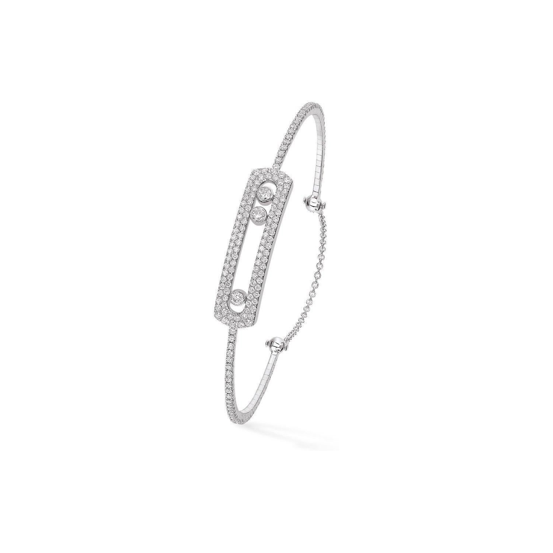 Bracelet Messika Move Joaillerie Skinny en Or blanc et Diamant