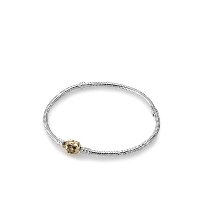 Bracelet Pandora en argent et or