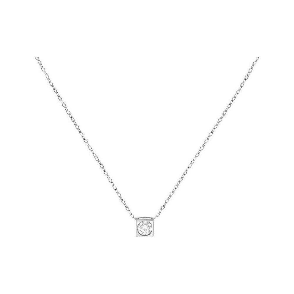 Collier dinh van Le Cube Diamant en or blanc et diamant vue 1