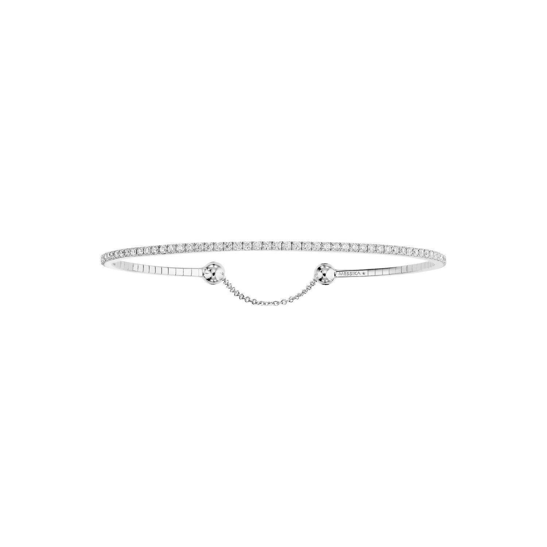 Bracelet Messika Skinny 1ct en Or blanc et Diamant