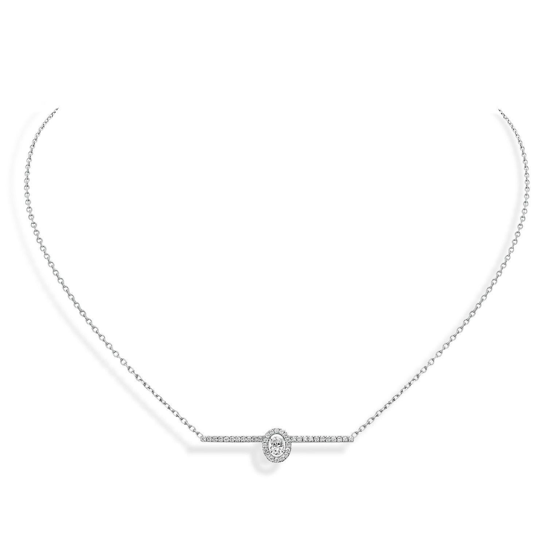Collier Messika Glam'Azone Amazone Pavé en Or blanc et Diamant