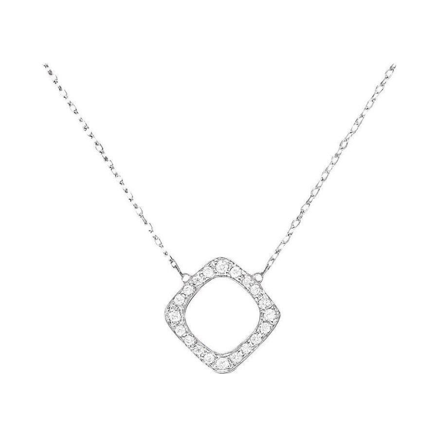 Pendentif dinh van Impression en or blanc et diamants