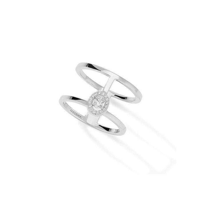 Bague Messika Glam'Azone 2 Rangs en or blanc et diamants