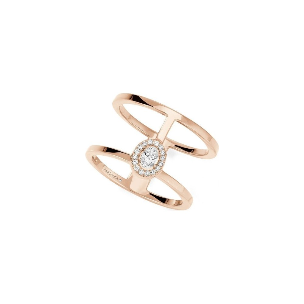 Bague Messika Glam'Azone en or rose et diamants