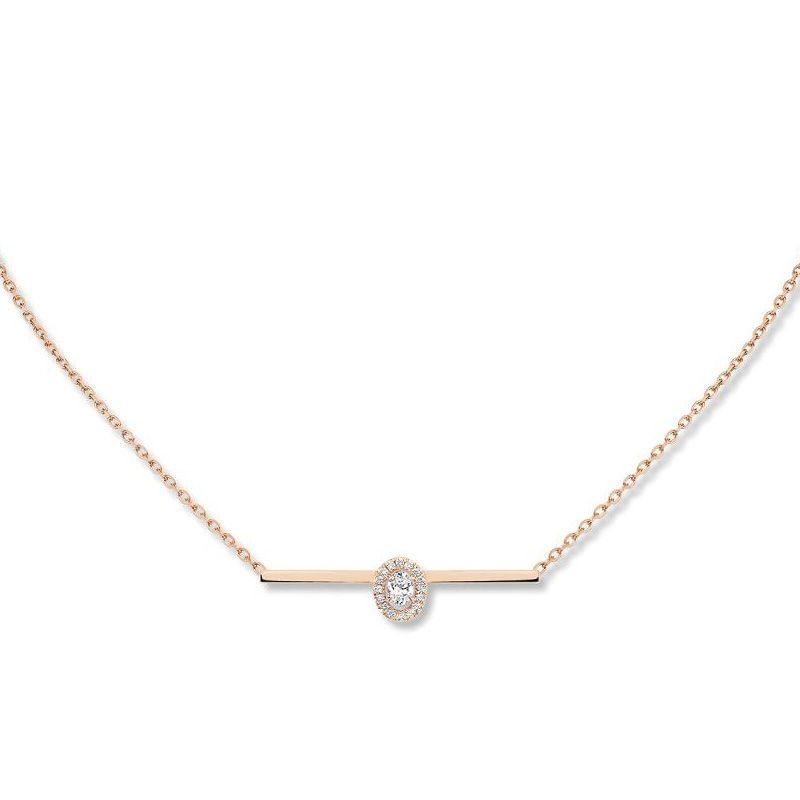 Collier Messika Glam'Azone en or rose et diamants