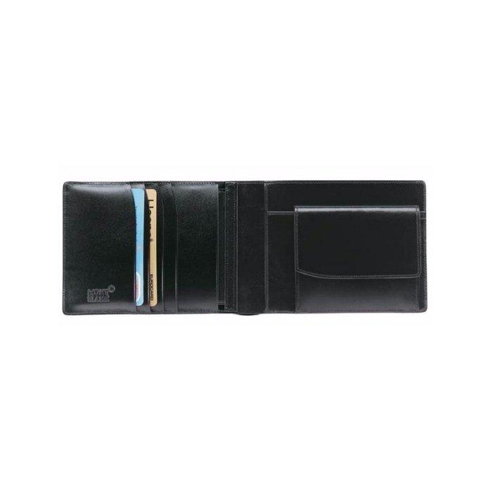 Portefeuille Montblanc Meisterstück en cuir noir vue 2