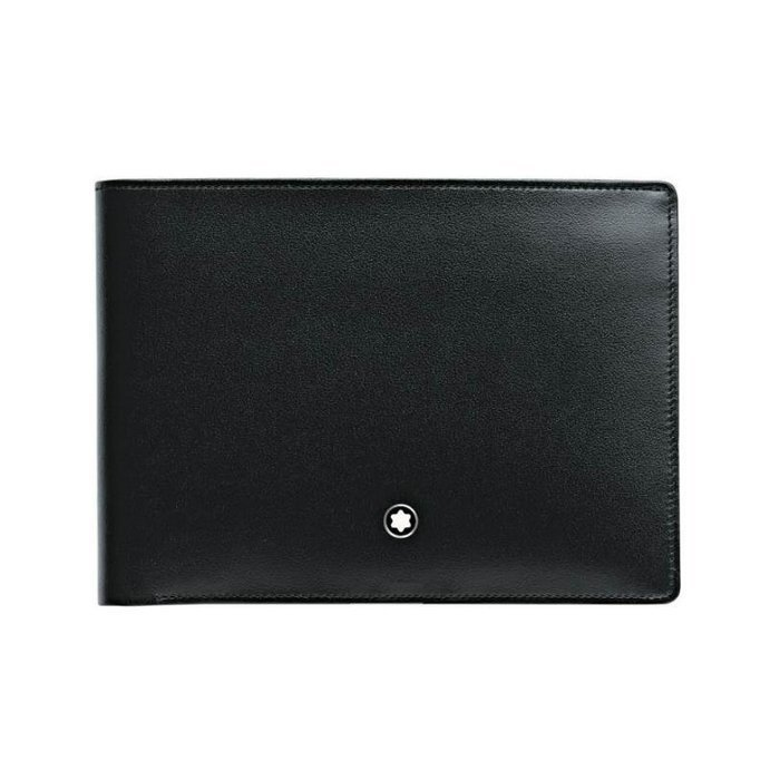 Portefeuille Montblanc Meisterstück en cuir noir vue 1