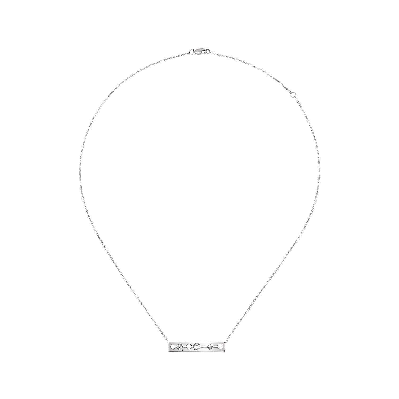 Collier dinh van Pulse dinh van en or blanc et diamants vue 1