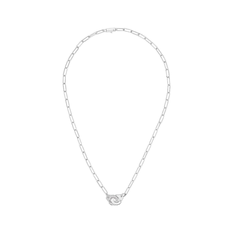 Collier dinh van Menottes R10 en Or blanc et Diamant
