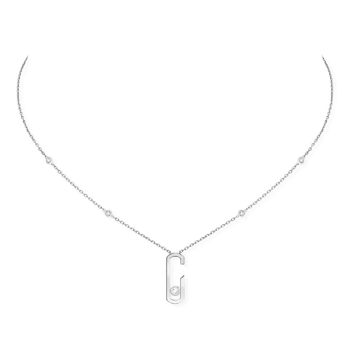 Collier Messika Move Addiction en or blanc et diamants