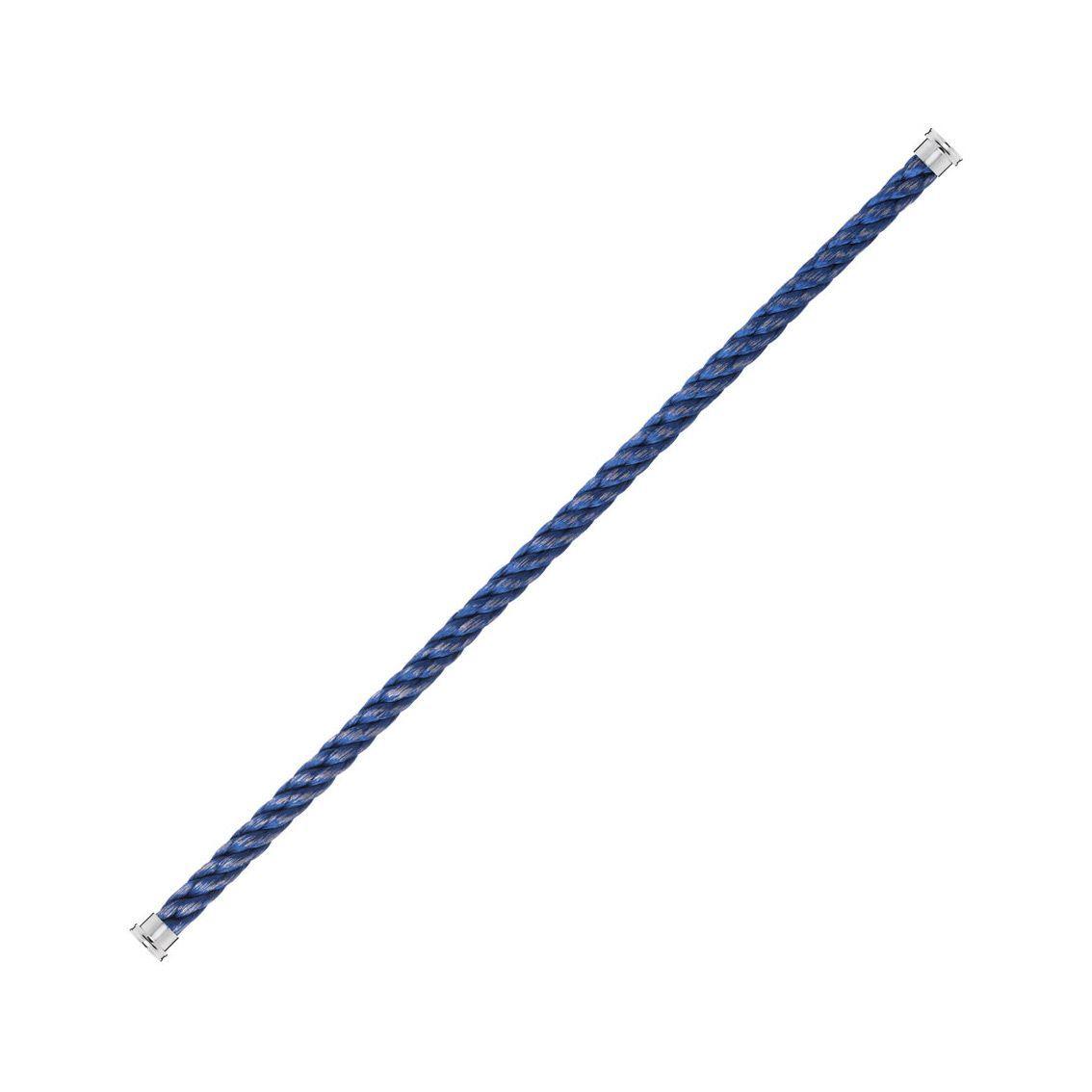 Câble grand modèle pour bracelet FRED Force 10 bleu en Acier avec embouts acier vue 1