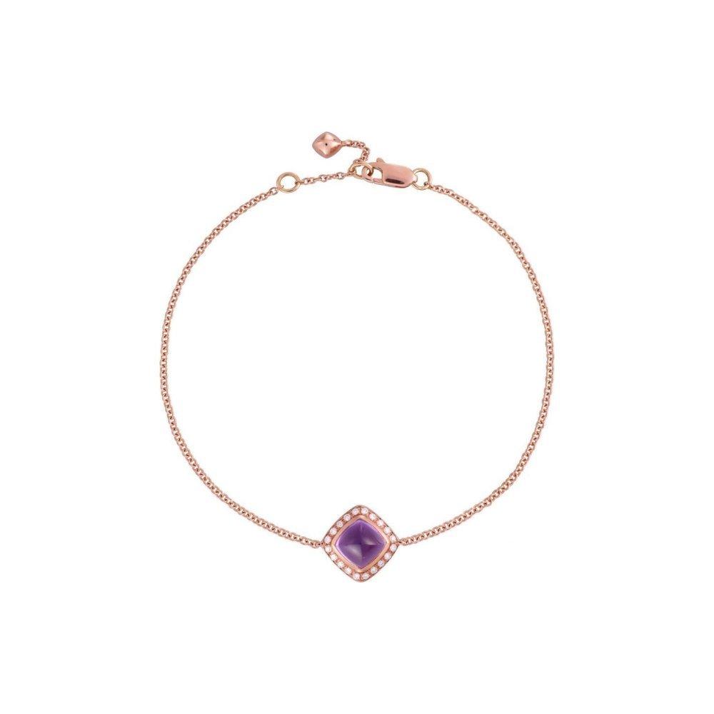 Bracelet FRED Pain de sucre en Or rose, Diamant et améthyste vue 1