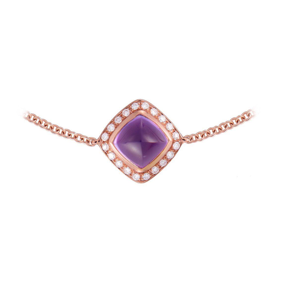 Bracelet FRED Pain de sucre en Or rose, Diamant et améthyste vue 2