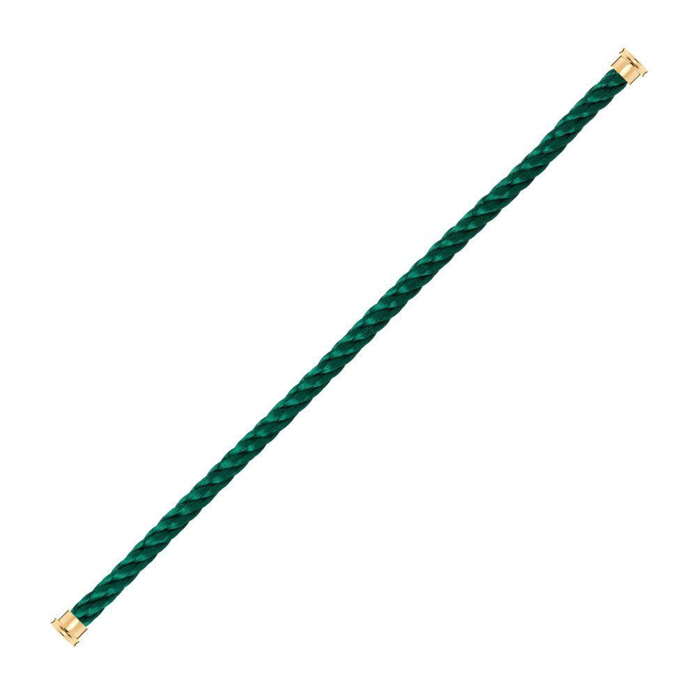 Câble grand modèle FRED Force 10 en acier vert emeraude vue 1