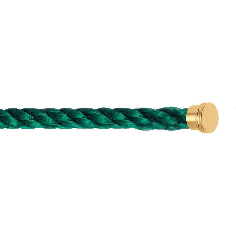 Câble grand modèle FRED Force 10 en acier vert emeraude vue 2