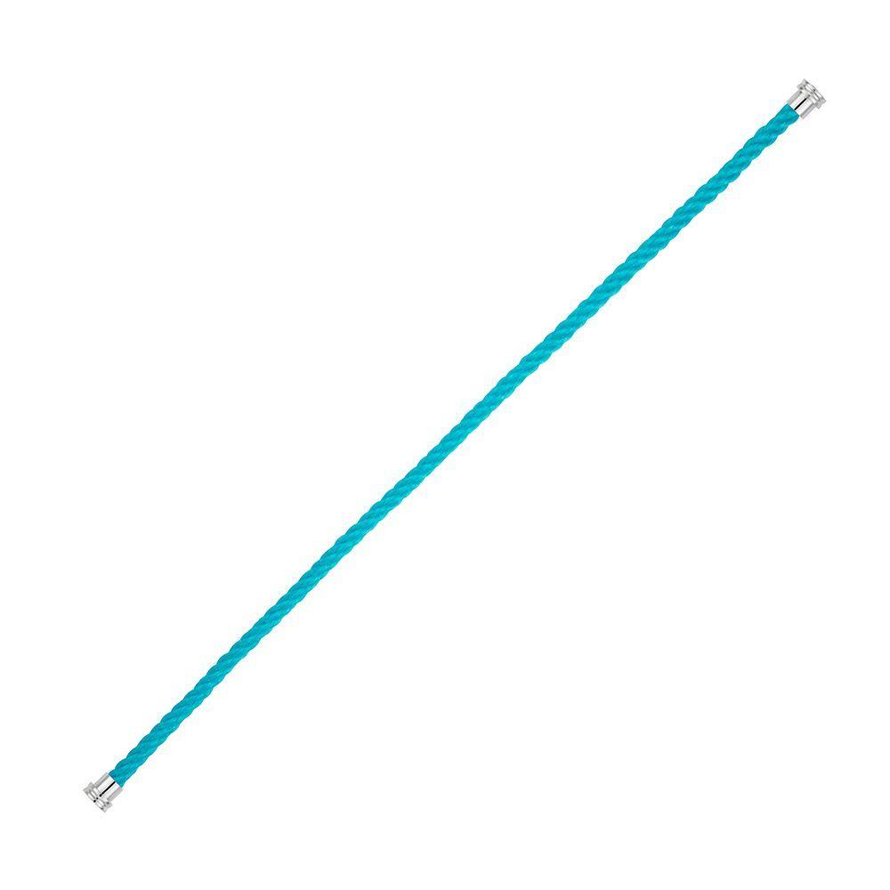 Câble moyen modèle FRED Force 10 en corderie bleu turquoise vue 1