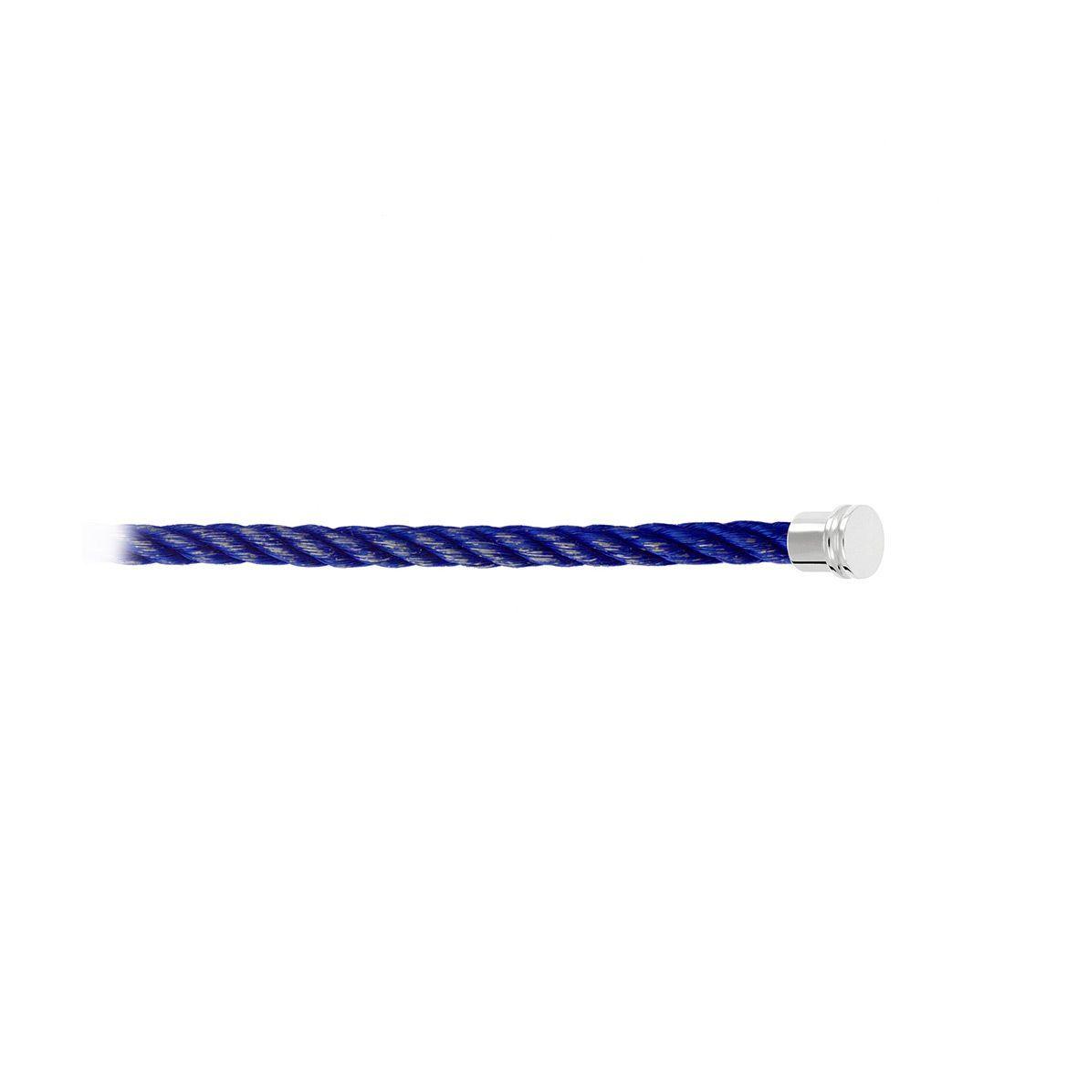 Câble moyen modèle pour bracelet FRED Force 10 bleu en Acier avec embouts acier vue 2