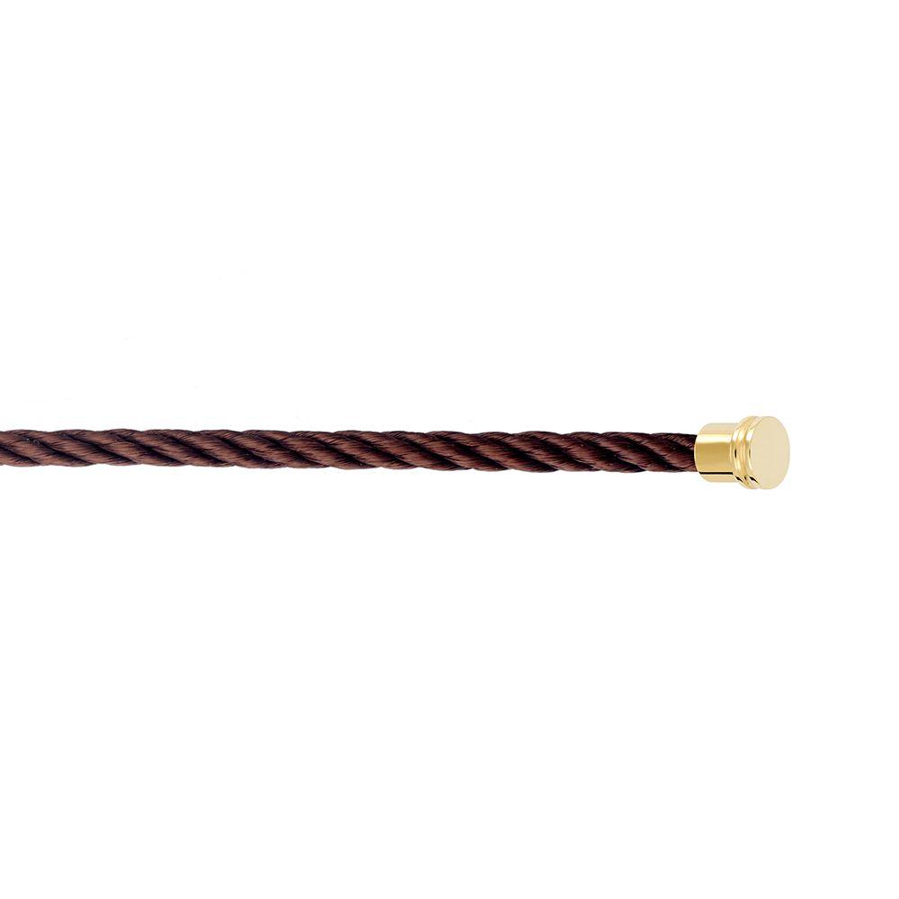 Câble moyen modèle FRED Force 10 en acier chocolat vue 2