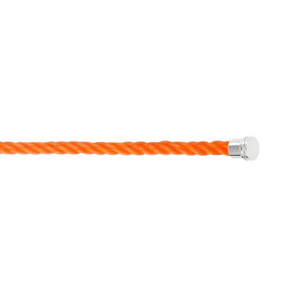 Câble moyen modèle pour bracelet FRED en corderie orange avec embouts acier vue 2