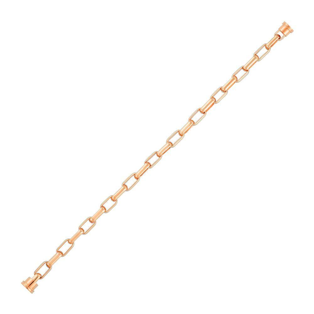 Câble grand modèle à maillons FRED Force 10 en or rose vue 1