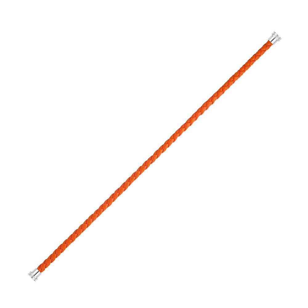 Câble moyen modèle pour bracelet FRED en cuir orange avec embouts acier vue 1