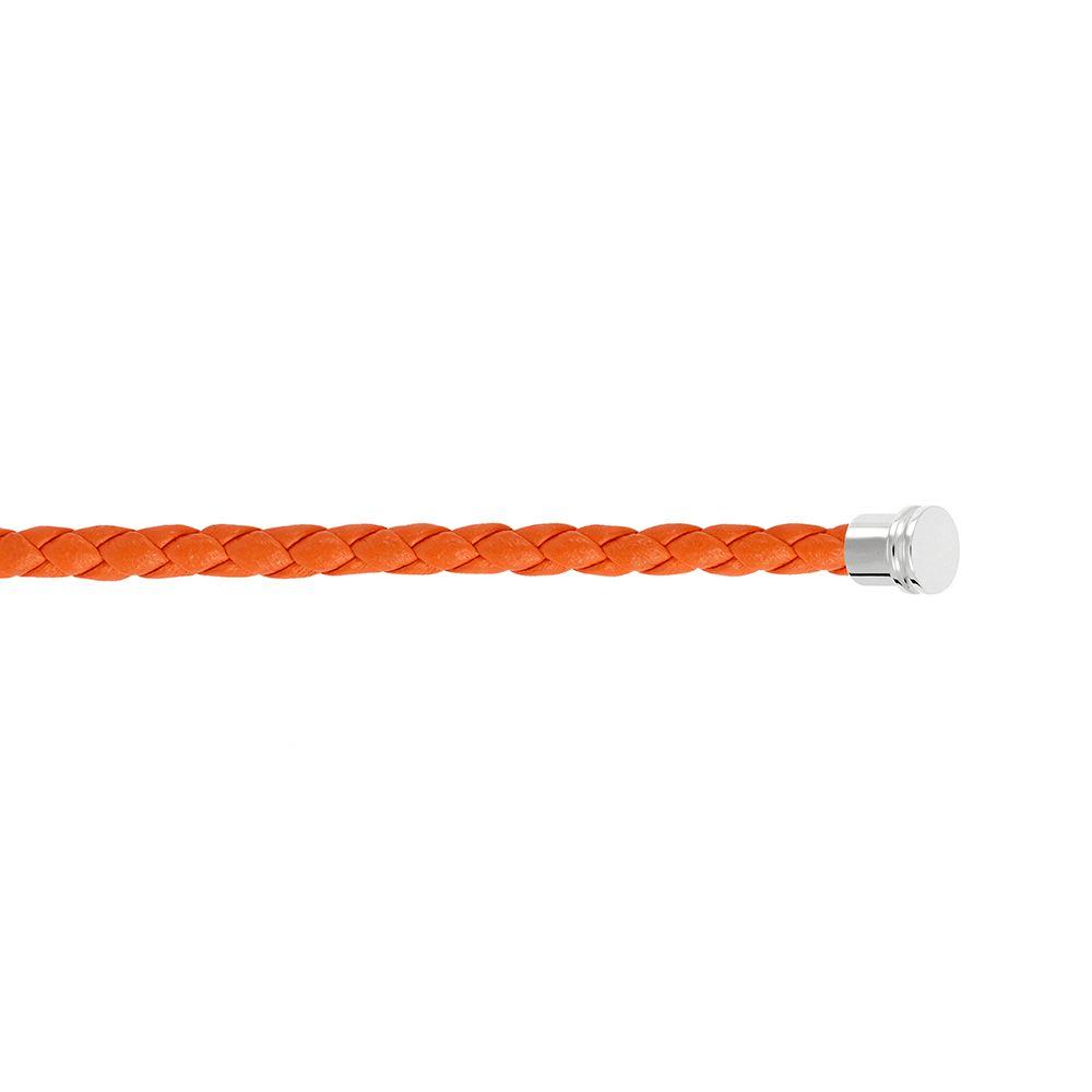 Câble moyen modèle pour bracelet FRED en cuir orange avec embouts acier vue 2