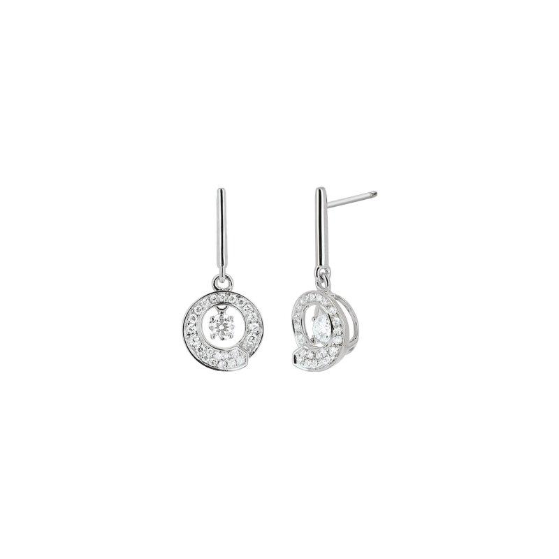 Boucles d'oreilles Envol dancing stone en or blanc et diamants de 0.32ct